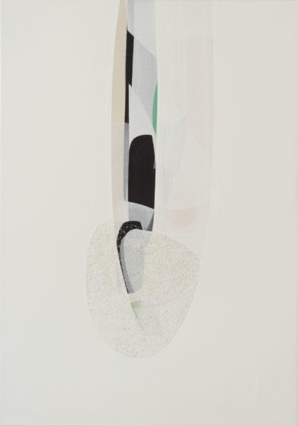 2 Untitled White 2007 100x70cm acrylic on canvas