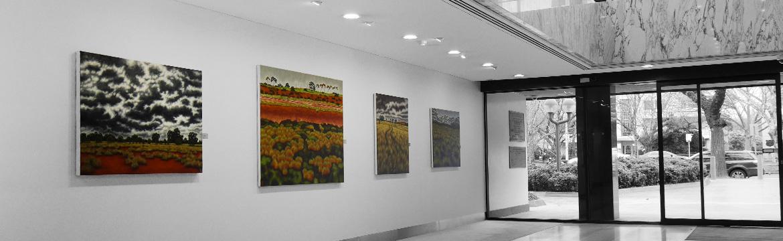 Corporate Art rental Installation2