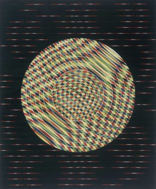 Dislocation no.2 (oil and acrylic on canvas) 138x170 cm 1998