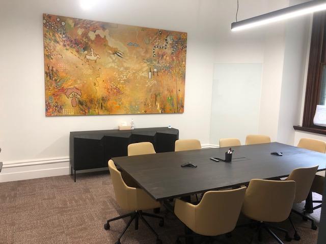 Financial services firm install original Australian artworks to enhance their new office
