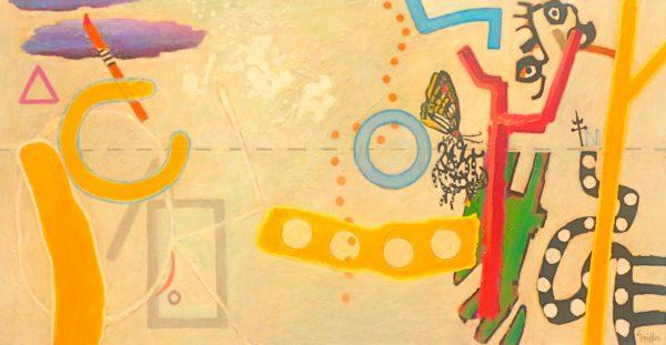 Capricorn 2009 acrylic on canvas 100x191cm $10,000