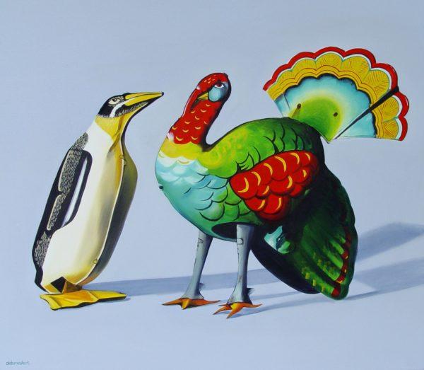 Mostert_Tin_Penguin_and_Tin_Turkey_82 x 71cm_$1600