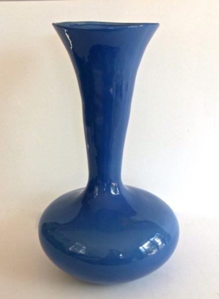 Trumpet Vessel Cornflower Blue glaze