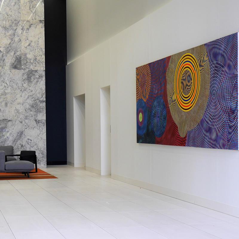 Colliers International artwork installation
