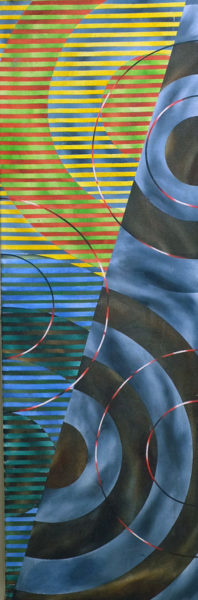 crosscurrent :alternation fragment oil and acrylic on canvas and acrylic on canvas 29 x 86cm 1994 copy