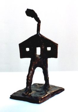 house bronze 18cm tall $2500
