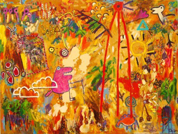 pratt rental_Gondwanaland 2005 Aug oil on canvas 138x183cm $11500